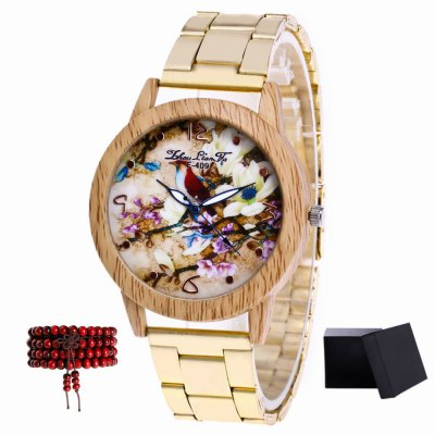ZhouLianFa New products gadgets Gold Band Magpie Quartz Table with Matching Gift Box and Beads