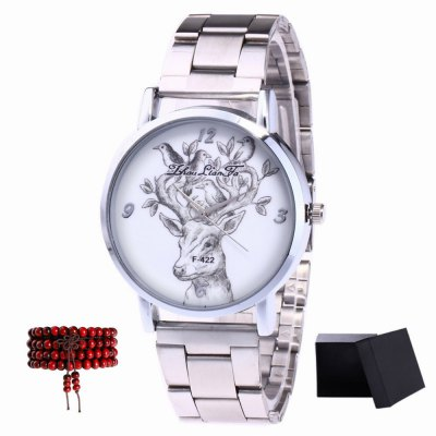 ZhouLianFa New products gadgets Silver Band Antlers Quartz Watch with Beads