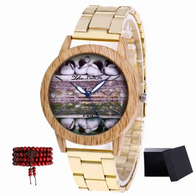 ZhouLianFa New products gadgets Silver Tape Duckling Figure Quartz Watch with Gift Box and Beads