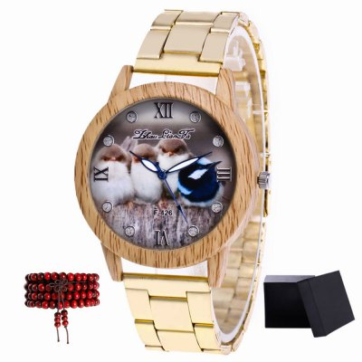 ZhouLianFa New products gadgets Golden Ribbon Duckling Broken Diamond Watch with Beads and Beads