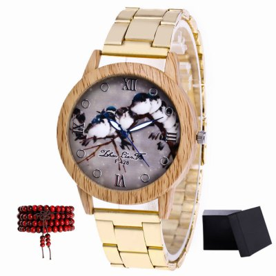 ZhouLianFa New products gadgets Golden Steel Swallows Quartz Watch with Beads
