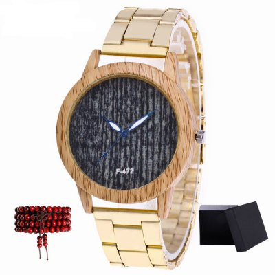 ZhouLianFa Top Brand Golden Band Classic Black Ladies Quartz Watch With Gift Box And Beads