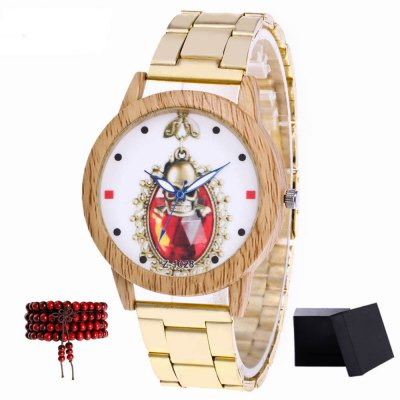 ZhouLianFa New products gadgets Brand of Gold Band Luxury Quartz Watch with Gift Box and Beads