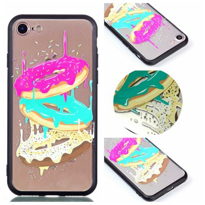 Cover Case for Iphone 8 Relievo Tricolor Donut Soft Clear TPU Mobile Smartphone Cover Shell Case