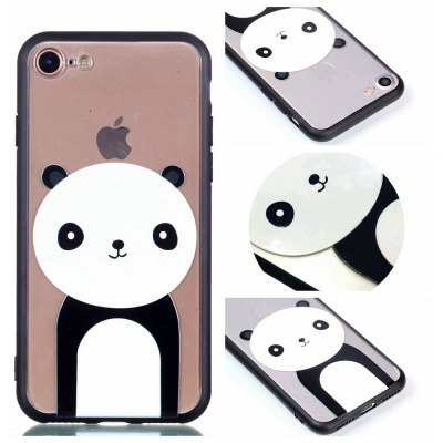 Cover Case for Iphone 8 Relievo Giant Panda Soft Clear TPU Mobile Smartphone Cover Shell Case