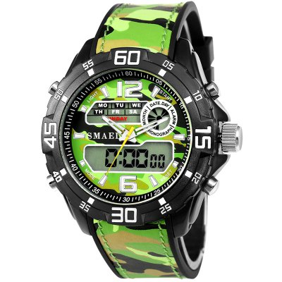 SMAEL 1077 Multi-function Outdoor Sport Waterproof Electronic Camouflage Watch