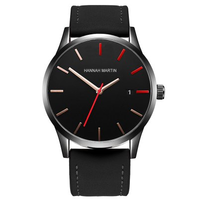 New products gadgets Men Frosted Leather Band Fashion Casual Wrist Watch with Calendar