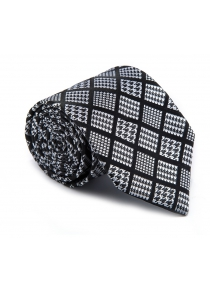 New products gadgets Fashion Fine Men Tie Unique Houndstooth in Plaid Design Comforty Lattice Business Necktie Accessory