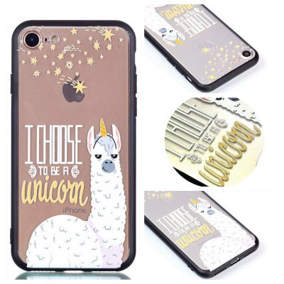 Cover Case for Iphone 8 Relievo Alpaca Soft Clear TPU Mobile Smartphone Cover Shell Case