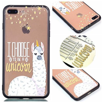 Cover Case for Iphone 8 Plus Relievo Alpaca Soft Clear TPU Mobile Smartphone Cover Shell Case