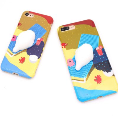 Decompression Doll Mobile Phone Shell for Iphnoe7 Plus
