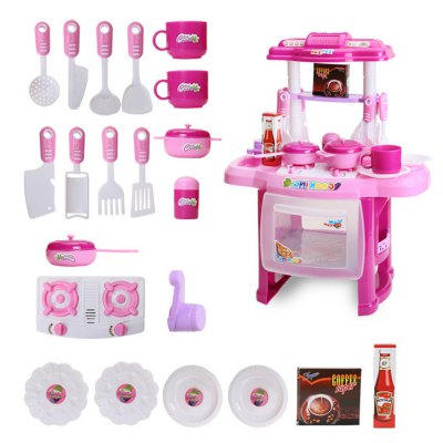 Children Play House Cooking Kitchen Table Tool Toys Cutlery Gifts