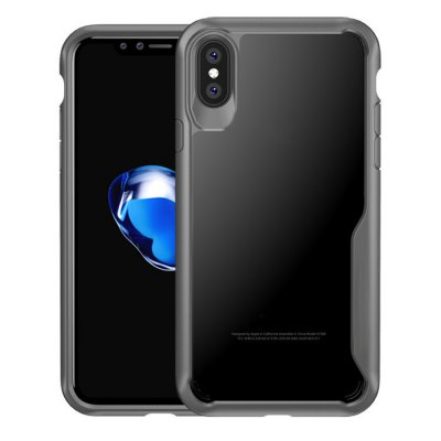 Cover Case for iPhone X Slim Transparent PC+TPU Silicone
