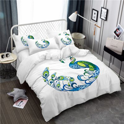 Embroidery Peacock Feathers Series Four Pieces of Bedding SK12