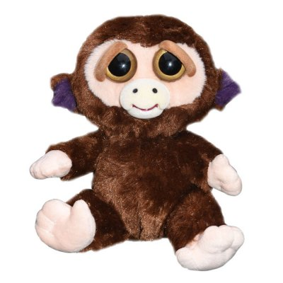 Feisty Pets Grandmaster Adorable Stuffed Monkey Squeeze Plush Toy
