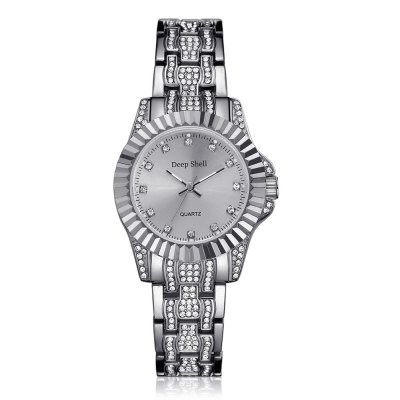 DP017 Women Fashion Alloy Band with Crystals Quartz Watches