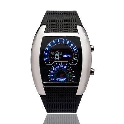 V5 Sports Watch Jelly Color LED Silica Gel Student Electronic Wrist Watch