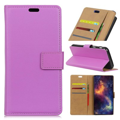 Simple Style Front Buckle Flip PU Leather Wallet Case for Samsung Galaxy S9