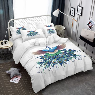 Embroidery Peacock Feathers Series Four Pieces of Bedding SK13