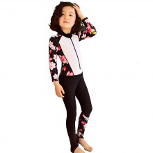 Girls Swimwear Siamese Long Sleeve Girl Swimsuit 2018 Printing Wetsuit