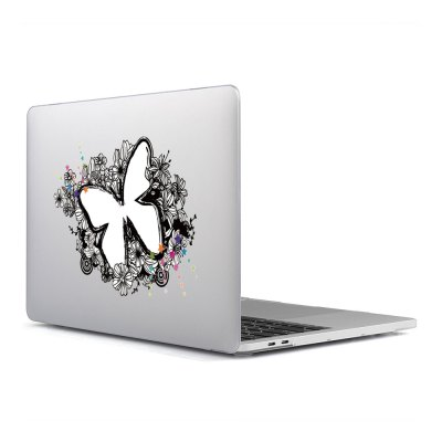 Computer Shell Laptop Case Keyboard Film Surface + Low for MacBook Air 11.6 inch 3D Butterfly Wings 18