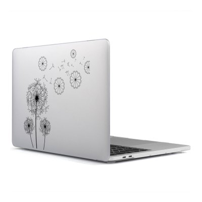 Computer Shell Laptop Case Keyboard Film Surface + Low for MacBook Air 11.6 inch 3D Black Dandelion 23