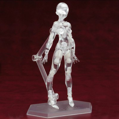 15CM Height Transparent Color Vegetarian Doll Action Figure Figma Toy