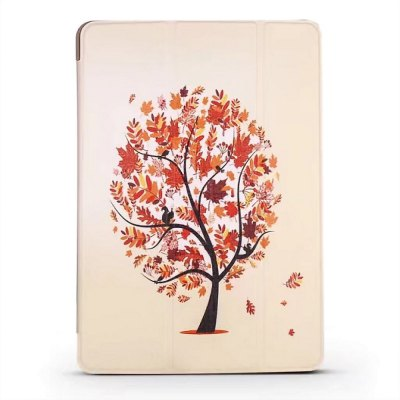 Three - Fold Vertical Color Painting Series Intelligent Sleep Protection Shell Suitable for iPad Pro 9.7 / 8