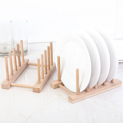 Bamboo Dining Table Insulation Pad Dish Cup Storage Rack