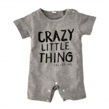 SOSOCOER Newborn Infant Bodysuits in Summer 2018 Fashion Letters Short Sleeved Baby Romper