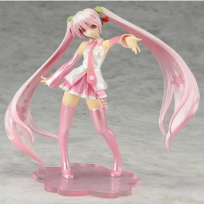 16CM Height Cute Pink Hair Girl Cartoon Action Figure Collectible Toy