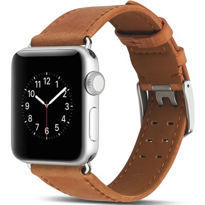 The Smart Watch Double-Button Leather Double Strap Is Suitable for Apple Watch 3/2/1