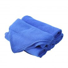 Car Styling 6PCS Blue Absorbent Wash Cloth Auto Care Microfiber Cleaning Towels Polishing Detailing Towels