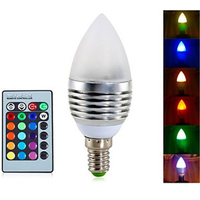 YWXLight E14 RGB Dimmable Remote-Controlled Decorative Candle Bulbs AC 85-265 V