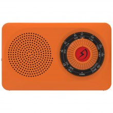 High Quality Portable Radio AM FM Dual Hand Movement Tune Outdoor Radio with Light Logo