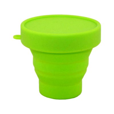 Food Grade Portable Collapsible Folds Flat Silicone Travel Camping Mug Folding Fold-able Drinking Cup