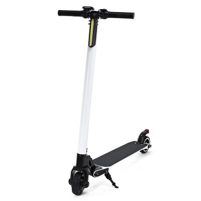 Carbon Fiber Body 5 Inch 6.8KG 4.4AH Lithium Battery Solid Tyre Foldable Electric Scooter