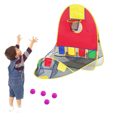 Portable Tent Ball Shooting Toy with 4 Balls