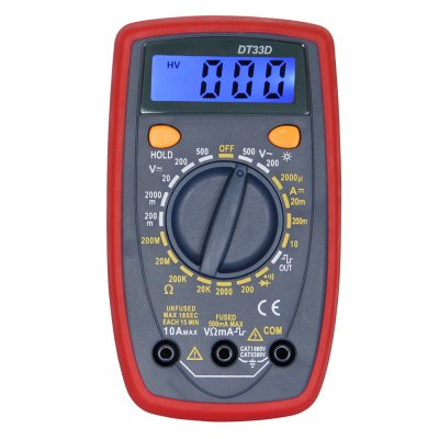 DT33D LCD Handheld Digital Multimeter Using for Home and Car