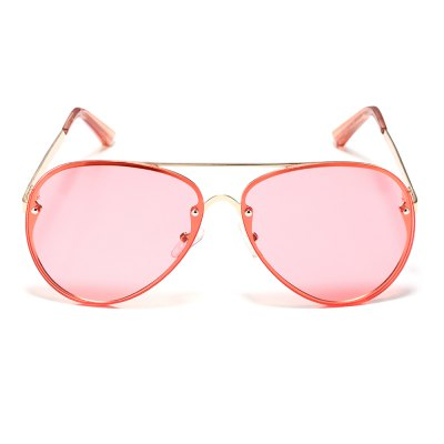 New products gadgets Color Film Sunglasses Driving Large Frame Retro Female Round Face Mirror