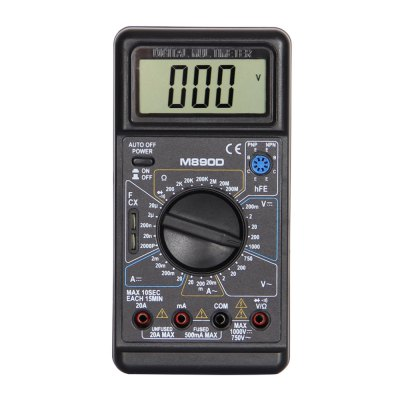 M890D LCD Handheld Digital Multimeter Using for Home and Car