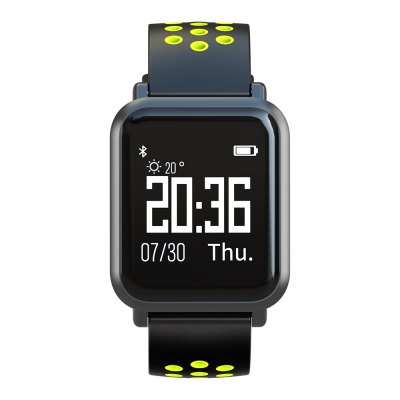 Atongm ATM2018 Bluetooth Smart Watches Waterproof Heart Rate Monitor Activity Fitness stater Wearable Yellow
