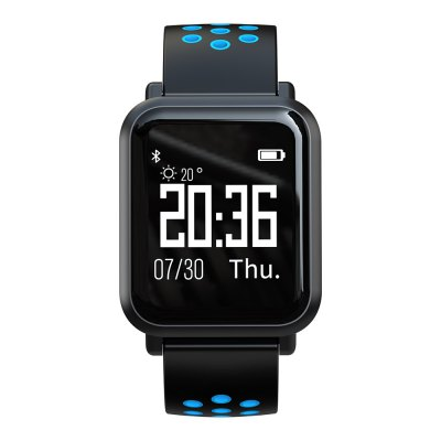 Atongm ATM2018 Bluetooth Smart Watches Waterproof Heart Rate Monitor Activity Fitness stater Wearable Blue