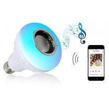 E27 LED Light Smart Wireless Bluetooth Stereo Speaker Bulb Music Lamp Remote Control Light RGBW