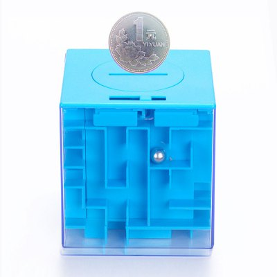 Creative 3D Three-dimensional Maze Piggy Bank Rotating Cube Puzzle Toy