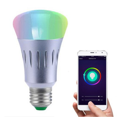 JIAWEN LED Wireless Wifi APP Remote Control Smart Light Dimmable RGB LED Lamp Bulb