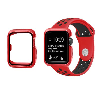 Soft Silicone Wrist Band and Frame for iWatch Series 1/2/3 38mm Protection Covers Sport Case