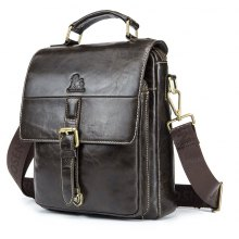 LaoShiZi 2018 New Fashion Men's Genuine Leather Cowhide Travel Style Large Capacity High Quality Handbag Messenger