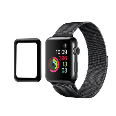 For Apple Watch Series 1 / 2 / 3 38mm 3D Curved Full Coverage Tempered Glass Protective Film