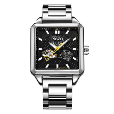 OUBAOER 2003B Square Automatic Mechanical Hollow Men Watches